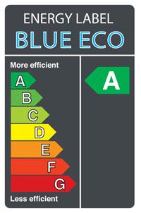Blue Eco energy label A